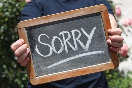 Die bessere Art der Entschuldigung